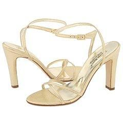 Taryn Rose Womens Countess Gold Shimmer Sandals