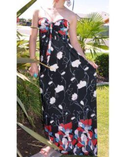 NawtyFox T206 Sexy Black,Red Tube/Halter Maxi Long Dress