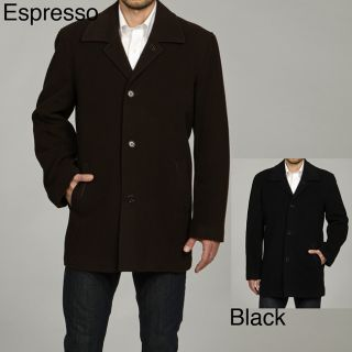 Cole Haan Mens 35 inch Italian Wool/Cashmere Blend Coat