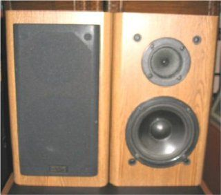 2 KLH Model 206 2 way Bookshelf Speaker Tan Stereo 120W