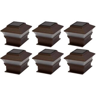Tricod Plastic Copper Fence Mount Solar Lights (Set of 6) Today $46