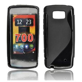 Coque Silicone Motif S Noir _ Nokia 700 Zeta   Cette magnifique coque