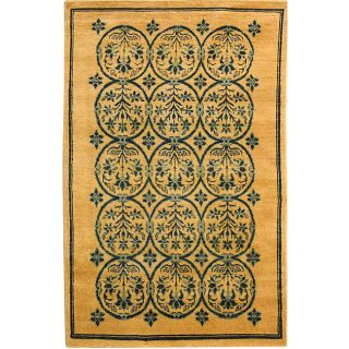 Persian Hand knotted Majestic Gold Rug (4 x 6)