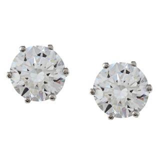 NEXTE Jewelry 14k White Gold Overlay Martini set CZ Earrings