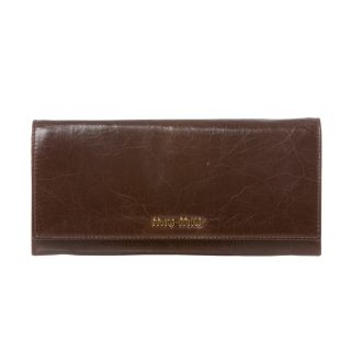 Miu Miu Brown Leather Flap Front Wallet