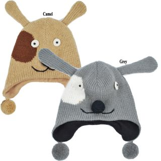 Wool Fleece Lined Kids Puppy Beanie (Nepal)