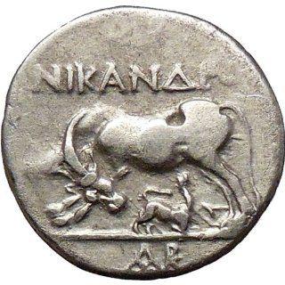 Illyria Apollonia 208BC Rare Silver Ancient Greek Coin Cow