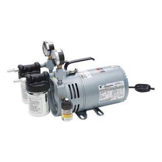 Gast 0523 V4 SG588DX Vacuum Pump, Rotary Vane, 1/4 HP, 26 In HG