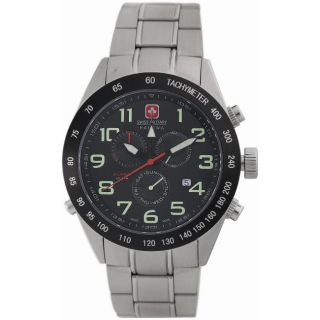 Swiss Military Mens Night Rider Stainless Steel Chronograph Watch
