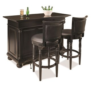 St. Croix Black finished Bar and Two Stools