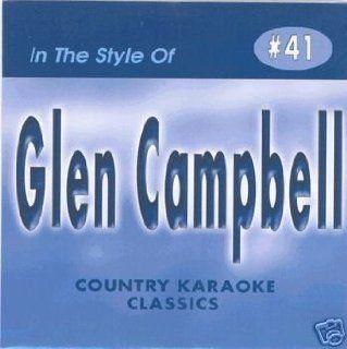 GLEN CAMPBELL Country Karaoke Classics CDG Music CD