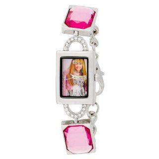 Hannah Montana Kids HHM206 Pink Gems Silver tone Bracelet Watch