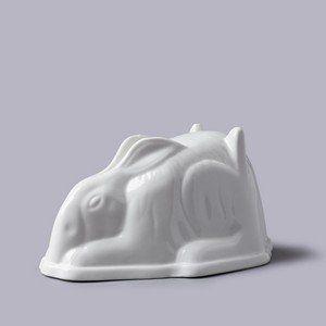 Rabbitl Shaped Ceramic Jello Mold
