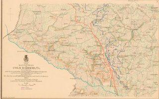 1895 Civil War Map of the Battlefield of Cold Harbor, VA