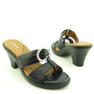 Clarks Womens Imelda Sandal,Black,8 M: Shoes