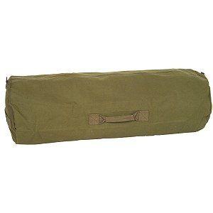 Zipper Duffel Bag    Mil Spec   Olive Drab Sports