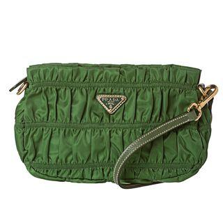 Prada Tessuto Gaufre Green Nylon Mini Bag