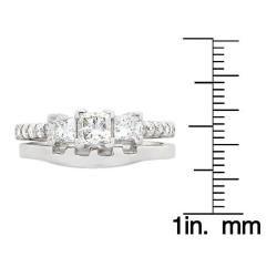 14k White Gold 1ct TDW Diamond Bridal Ring Set (G H, SI1 SI2