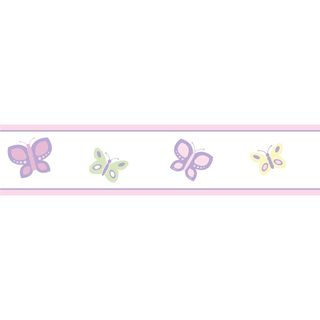Sweet JoJo Designs Pink and Purple Butterfly Wall Border