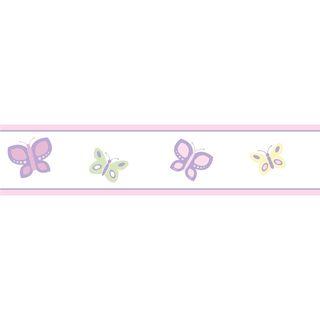 Sweet JoJo Designs Pink and Purple Butterfly Wall Border