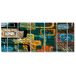Ash Carl Whisper 7 panel Abstract Metal Wall Art Today $314.99 Sale