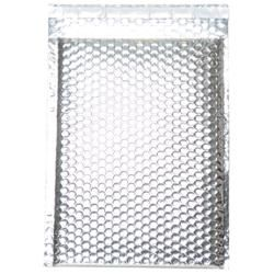 Silver Metallic Open End Bubble Mailers (Pack of 12)