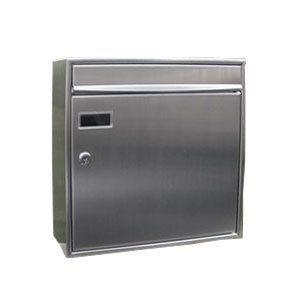 EuropeanHome Wall Mounted Stainless Steel View Point Mailbox