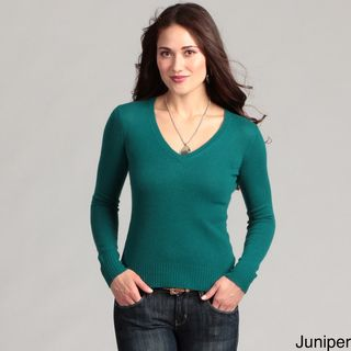 Cullen Womens Cashmere Basic V neck Sweater