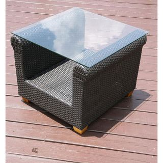Savannah Outdoor Classics Hudson All weather Wicker End Table