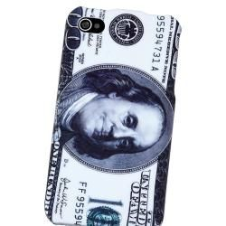 Hundred Dollar Snap on Rubber Coated Case for Apple iPhone 4/ 4S