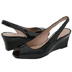 Christin Michaels Jackie Black Patent Pumps/ Heels   Size 9.5