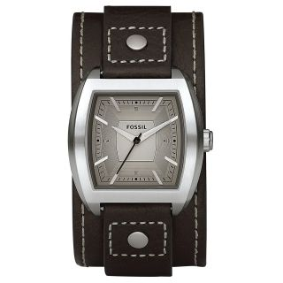 Fossil Mens Three hand Leather Strap Analog Watch