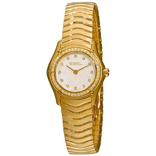 Ebel Classic Womens Yellow Gold Diamond Watch