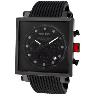 Red Line Mens Compressor2 Black Silicone Watch