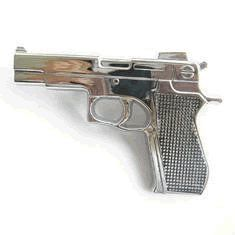 Silver Plated Gun 9 MM Glock Belt Buckle Clothing