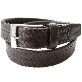 Tommy Bahama Mens Curacao Brown Leather Belt