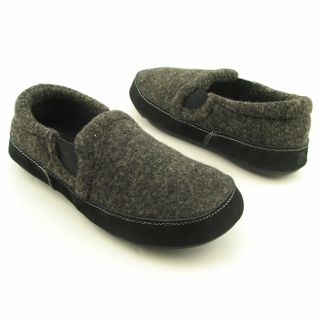 Acorn Mens Fave Gore Black Night Tweed Slippers