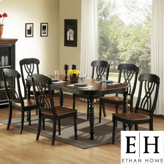 ETHAN HOME Mackenzie 7 piece Country Black Dining Set Today $1,074.34