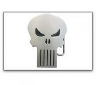 The Punisher Silver Metal Skull Belt Buckle Clothing