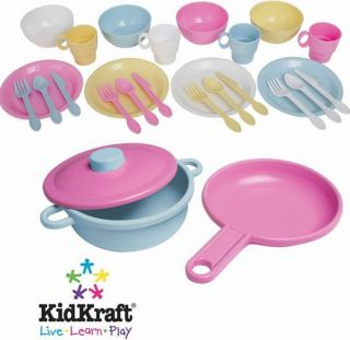 Kid Kraft 27 piece Pastel Cookware Set