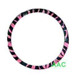 Animal Print Steering Wheel Cover   Zebra Pink