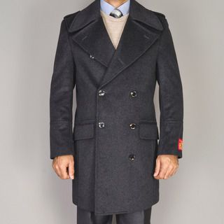 Mantoni Mens Wool/Cashmere Blend Double breasted Coat