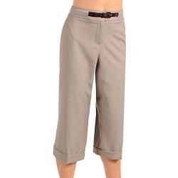 Stanzino Womens Short Belted Khaki Pants