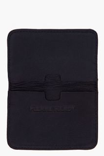 Pierre Hardy Black Nappa Leather Cube Card Wallet for men