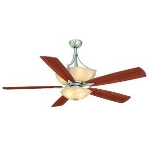 Hampton Bay Brookedale II 60 Inch Brushed Nickel Ceiling Fan