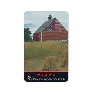 Collectible Phone Card 30m Red Barn Painted With American Flag Design