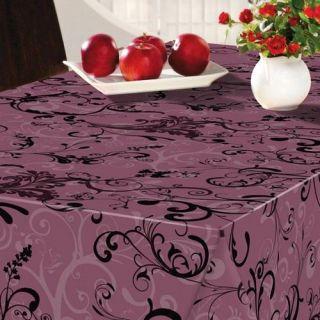 160 cm Swirl violet   Nappe ronde Fibranne BONITA. Diamètre  160