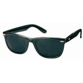1980s Black Wayfarer Style Fashion Sunglasses with Super