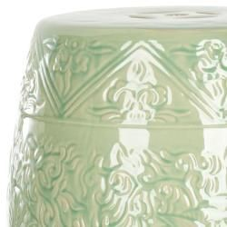 Paradise Gardens Embossed Lime Green Ceramic Garden Stool