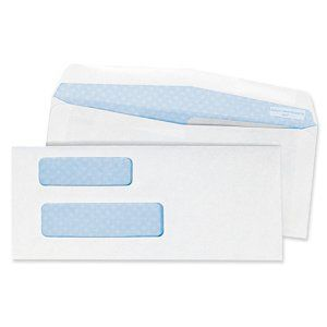 Quality Park #9 Double Window Security Invoice Envelope, 3
